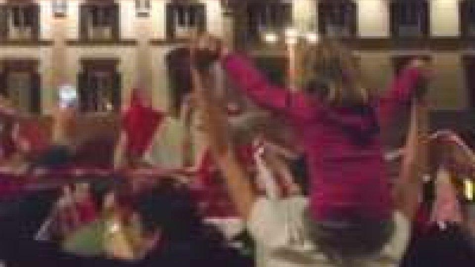 Grande festa per il Forlì neo promosso nel campionato di seconda divisione