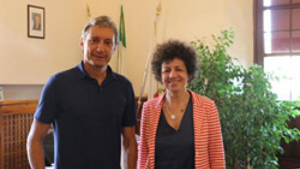 Il Sindaco di Rimini Andrea Gnassi ha ricevuto il nuovo Prefetto di Rimini, Alessandra Camporota