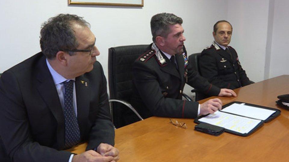 Carabinieri comando di RiminiBilancio Carabinieri comando di Rimini: reati in diminuzione ma sempre alto il numero di furti