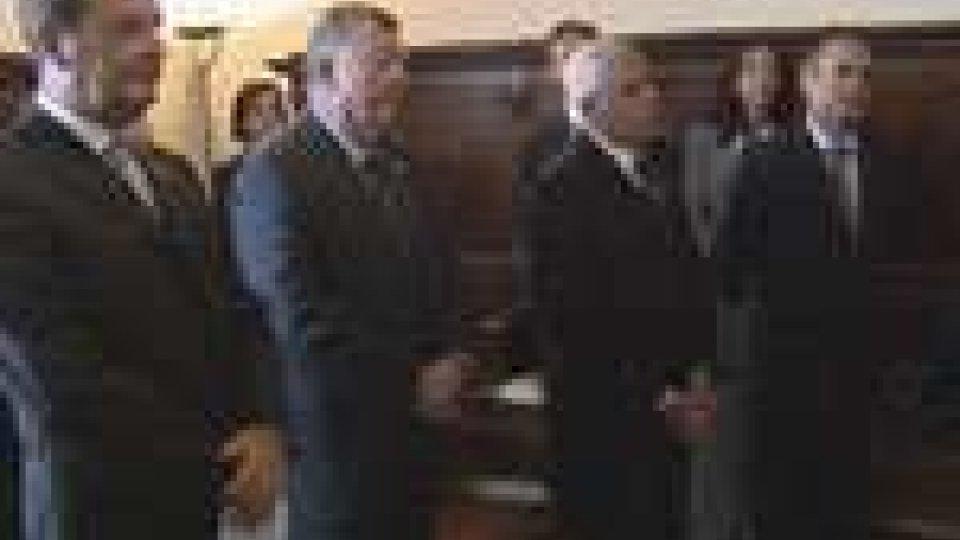 San Marino - I vertici dei Notai italiani ricevuti dalla Reggenza