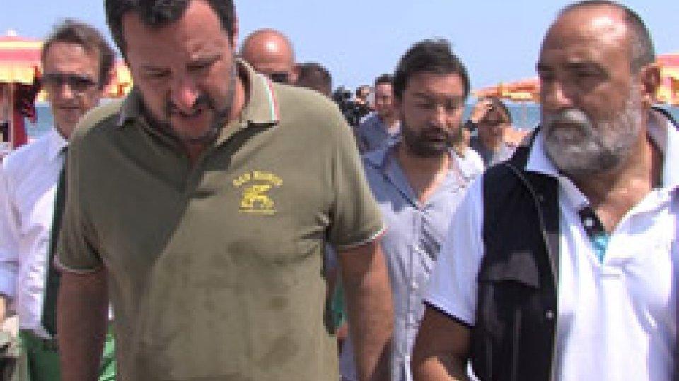 """Matteo Salvini e il Dg di Rtv Carlo RomeoSalvini a San Marino Rtv: """"Ora anima e corpo nella lotta alla mafia, e in autunno rivoluzione fiscale"""""""