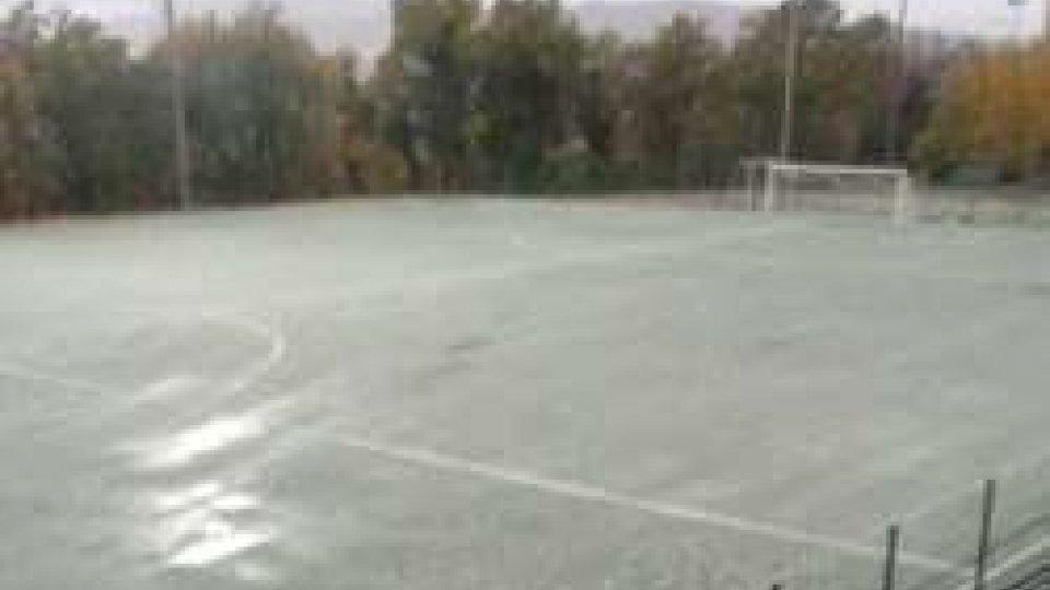 La neve sui campi di San Marino, le partite rinviate si recuperano martedì prossimo alle 21.15