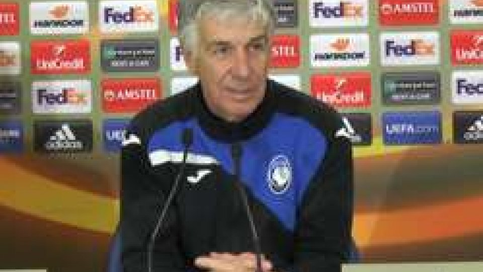 "Europa League, Gasperini: ""Usciamo a testa alta"""