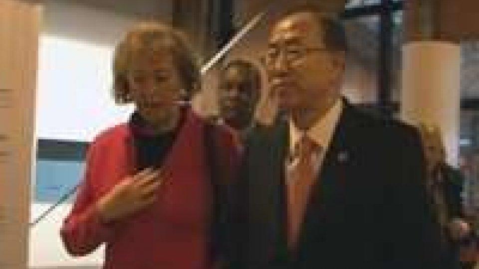 Ban Ki-moon a San Patrignano, colazione con i giovani