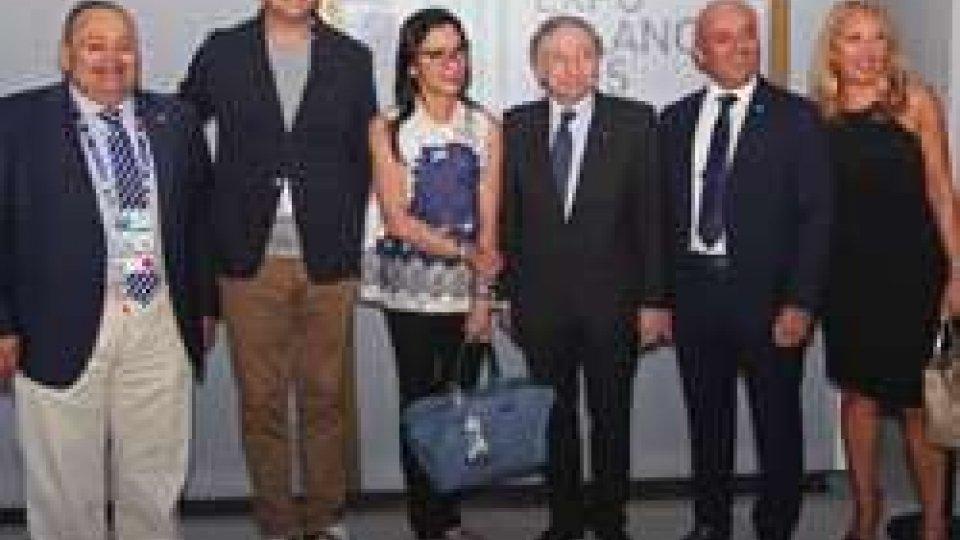 Expo: Jean Todt visita il padiglione di San Marino