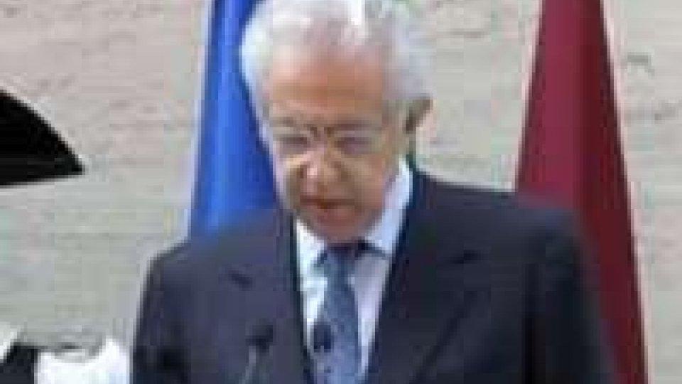 """Mario Monti: """"Per uscire dalla crisi non esistono scorciatoie"""""""