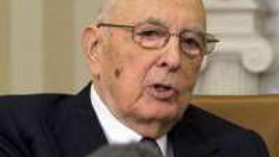 Napolitano: telefonata di chiarimento con Steinbrueck