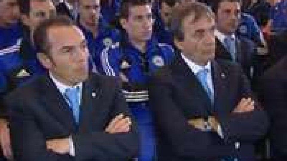 Nazionali di calcio in udienza dai Reggenti