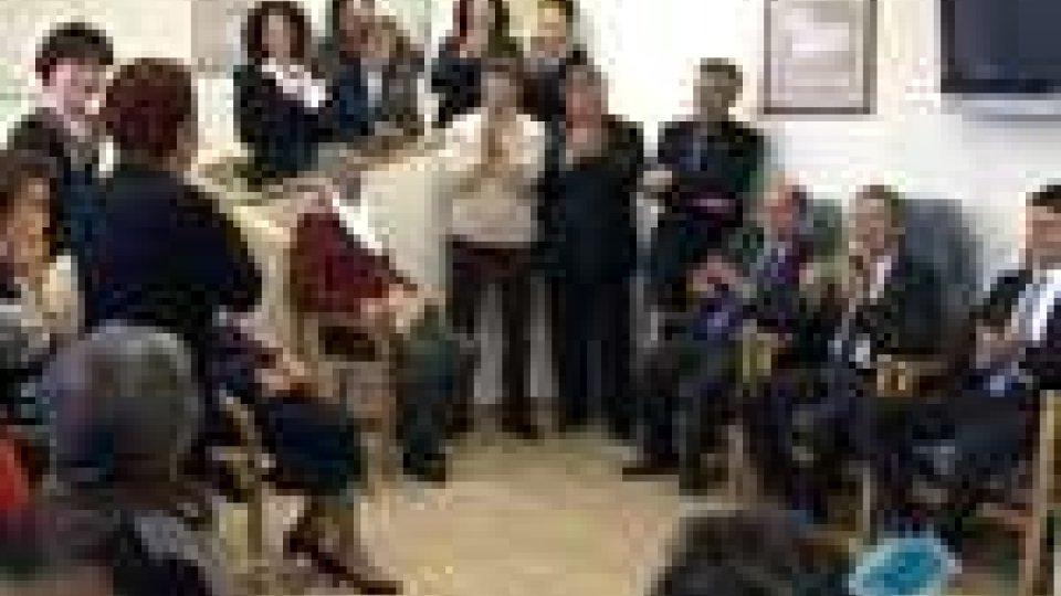 I Reggenti in visita agli anziani di Borgo e Dogana