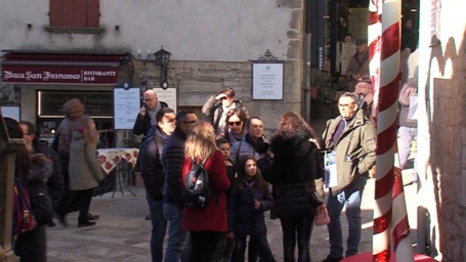 Turisti in centro storico