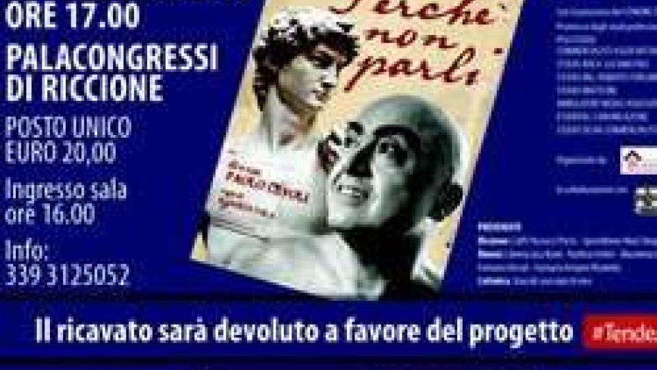 """""""PERCHÉ NON PARLI"""": PAOLO CEVOLI AL PALAS DI RICCIONE DOMENICA 28 FEBBRAIO"""