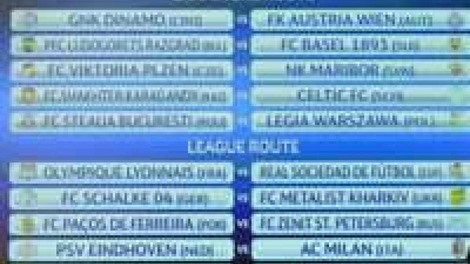 Play-off Champions League, sorteggio amaro per il MilanChampions, il Milan pesca il PSV