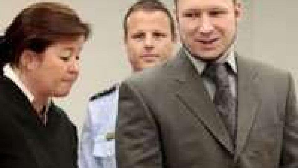 """Norvegia. Processo a Breivik: """"Dispiaciuto per per morte  di alcune persone"""""""