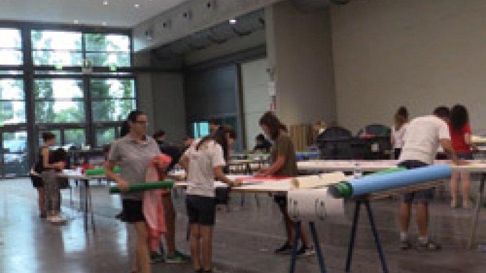 Volontari MeetingUltimi preparativi per il MEETING: sabato18 fine lavori, altri volontari domenica 19