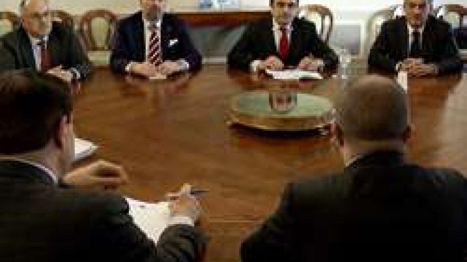 Governo e rappresentanti del sistema bancario