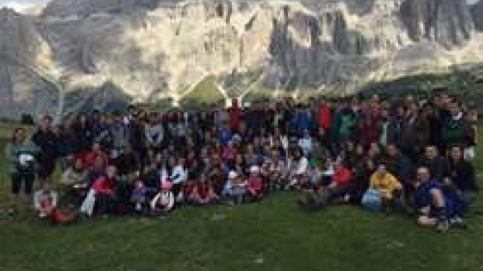 Il Sindaco Tosi in montagna con i suoi concittadini