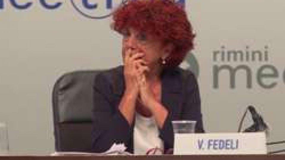 """Valeria FedeliValeria Fedeli al Meeting: """"Scuola dell'obbligo fino ai 18 anni"""""""