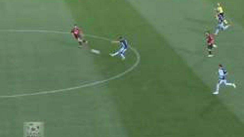 Il gol di LovisoGubbio: rimontato l'eurogol di Loviso