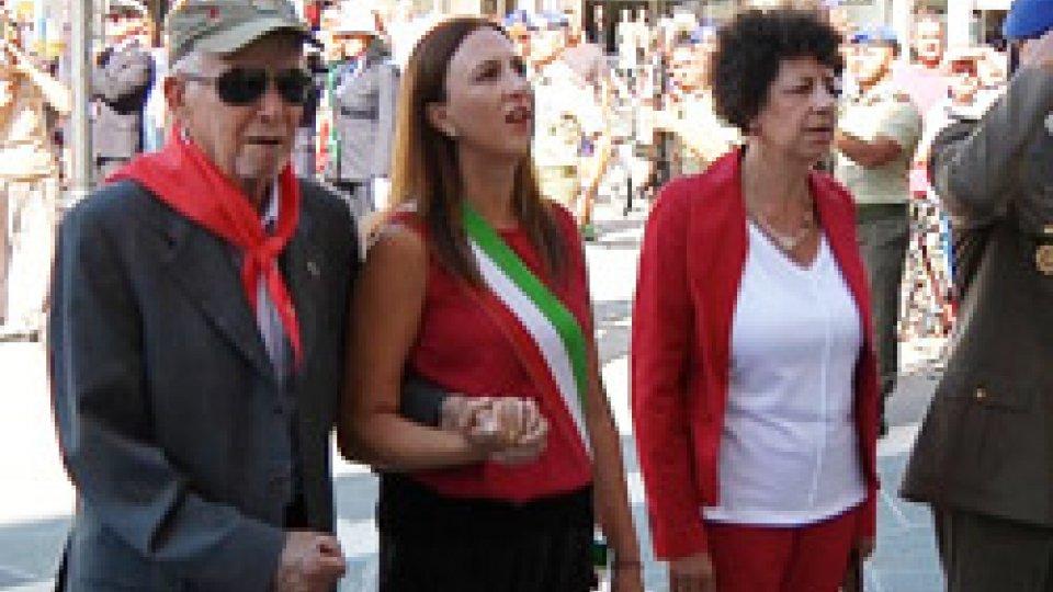 Cerimonia in Piazza Tre MartiriPiazza Tre Martiri, Rimini: cerimonia commemorativa in ricordo dei tre partigiani uccisi