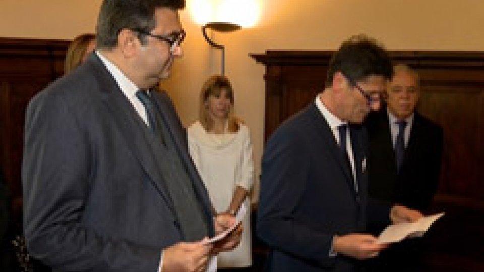 Tre nuovi ambasciatori accreditati sul TitanoTre nuovi ambasciatori accreditati sul Titano