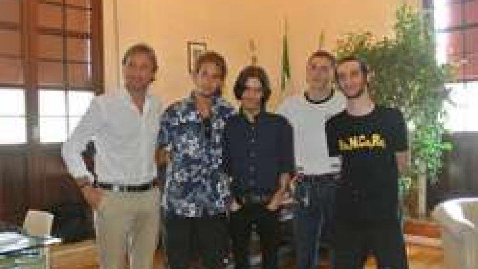 Il Sindaco di Rimini, Andrea Gnassi, incontra la band riminese degli Alternative station