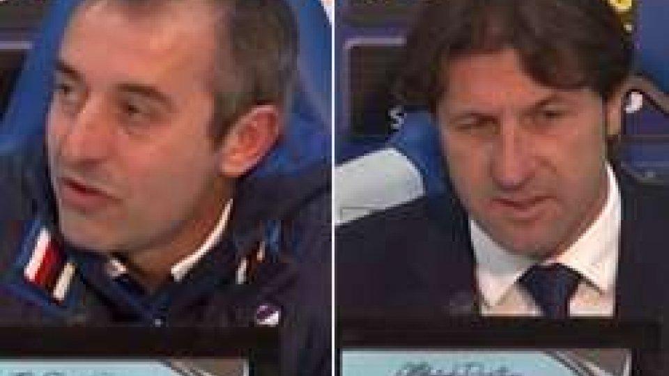Giampaolo e RastelliCoppa Italia: passano Atalanta e Sampdoria, le interviste degli allenatori