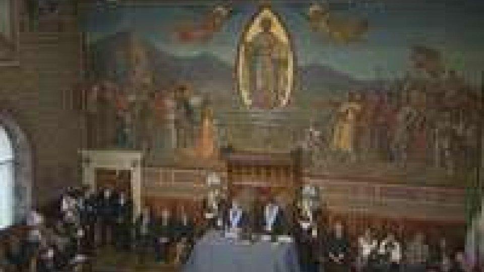 """Visita Napolitano: Reggenza soddisfatta per la piena riuscita di un """"evento storico"""""""