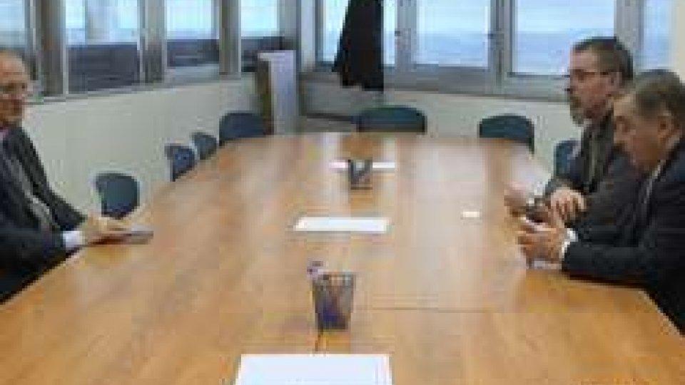 L'Ambasciatore d'Italia a San Marino Guido Cerbone ha incontrato i dirigenti della CSU