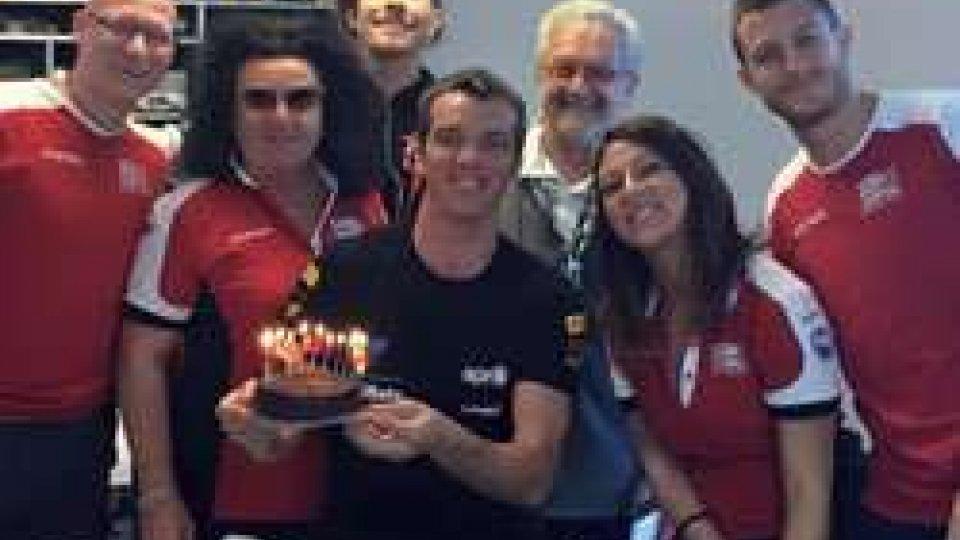 Alex De Angelis e il suo team