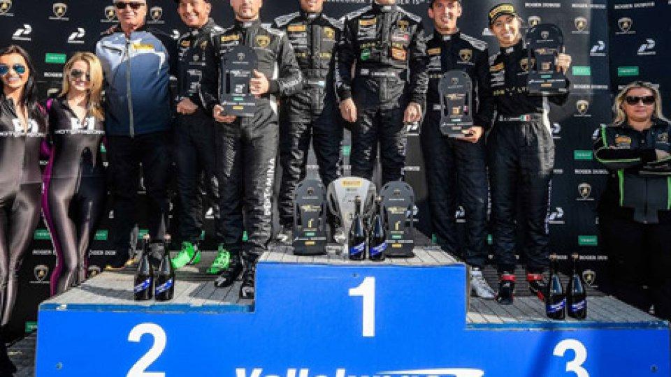 il podio Super Trofeo Lamborghini