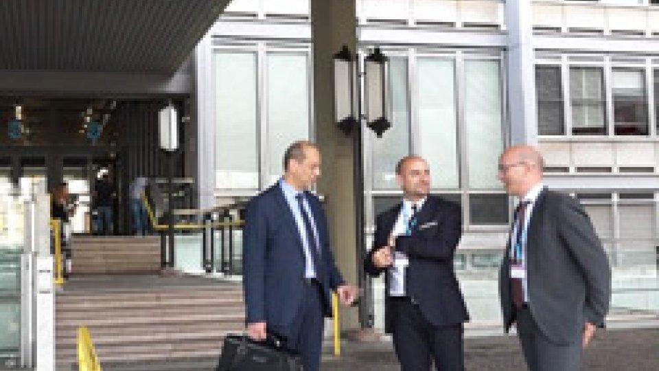 Sandro Pavesi, Franco Santi e Andrea GualtieriPensioni, a Roma l'incontro tra il Segretario alla Sanità Santi e il dg dell'INPS