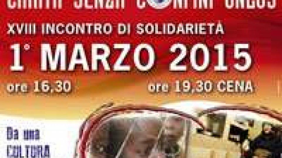 Carità senza Confini invita tutti alla cena solidale del 1° marzo
