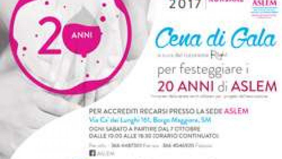 Cena di Gala per festeggiare i 20 anni di ASLEM