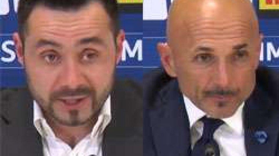 De Zerbi e SpalelttiInter - Benevento 2-0, le interviste post partita
