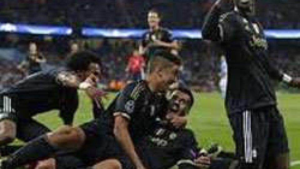 Champions: la Juve batte il City