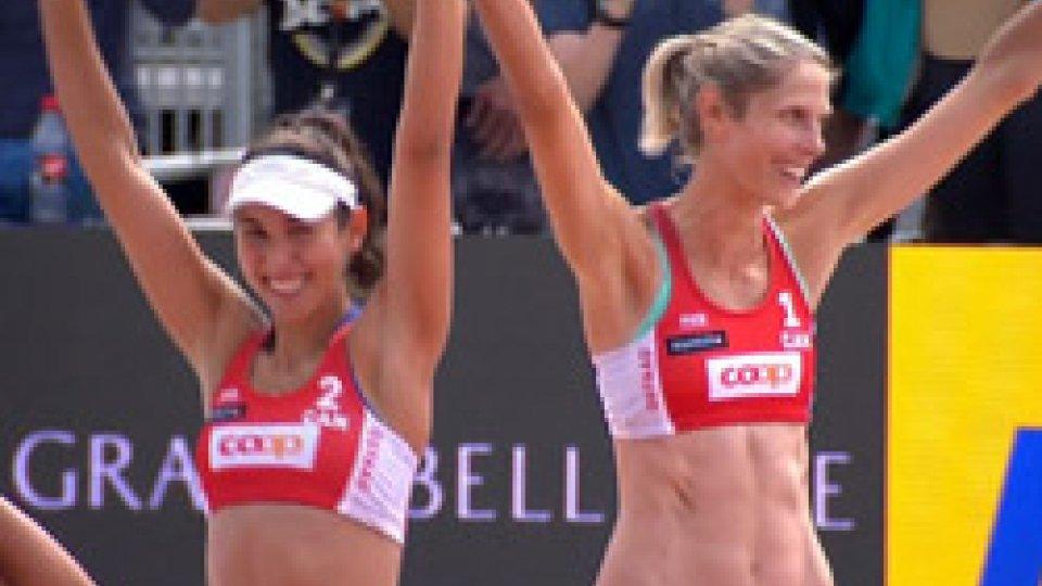 Melissa Humana-Paredes e Sarah PavanBeach Volley: a Gstaad vincono le canadesi