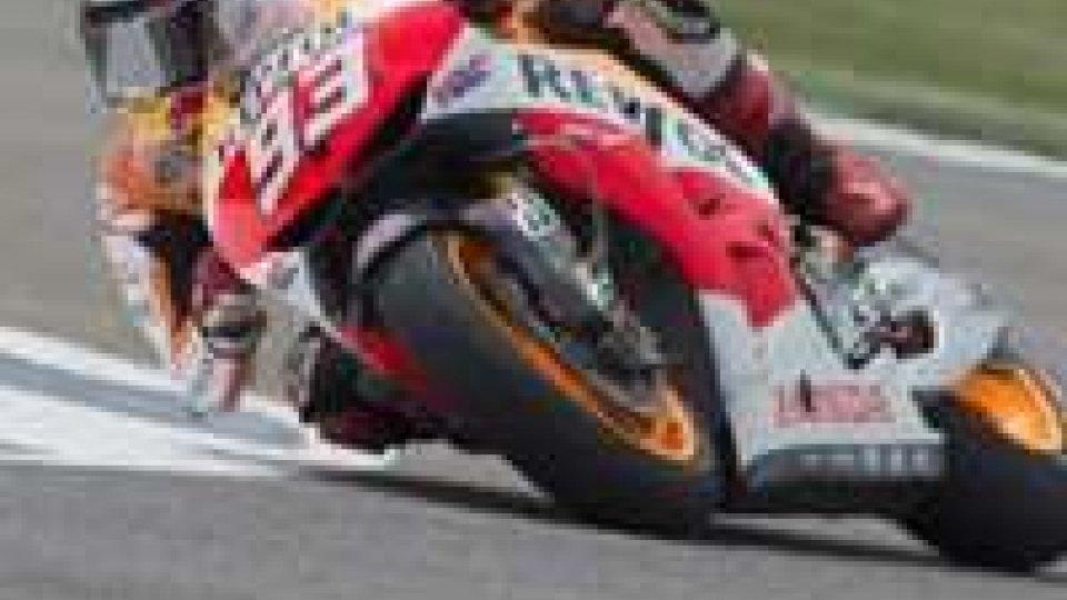 Aragona: 7° pole per Marquez, Rossi 4°
