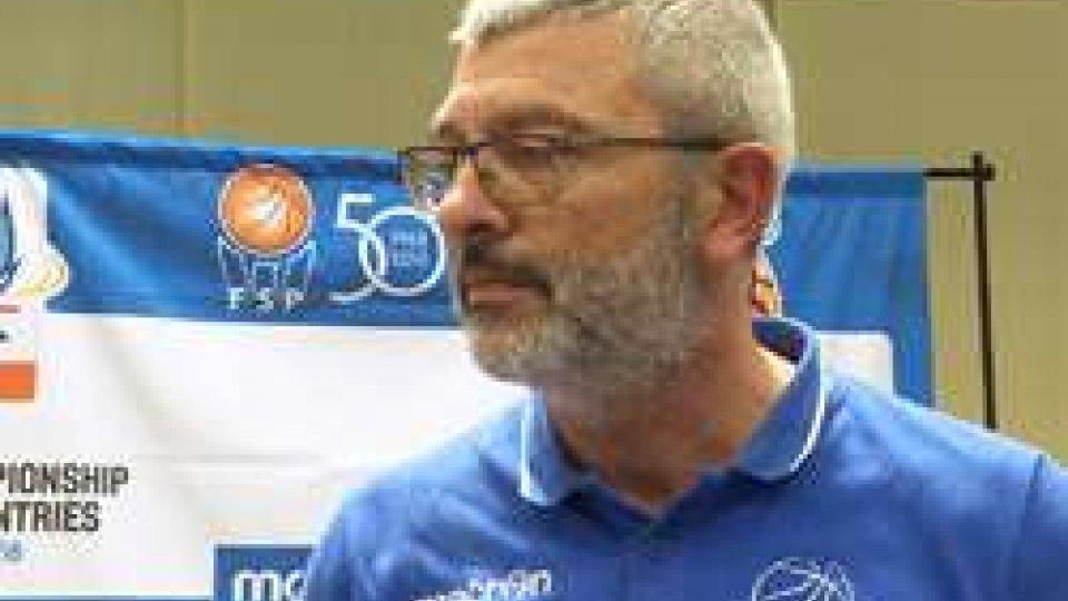 """Massimo PadovanoEuropei dei Piccoli Stati di Basket. Padovano""""Speriamo di poterci giocare l'entrata alla finale"""""""