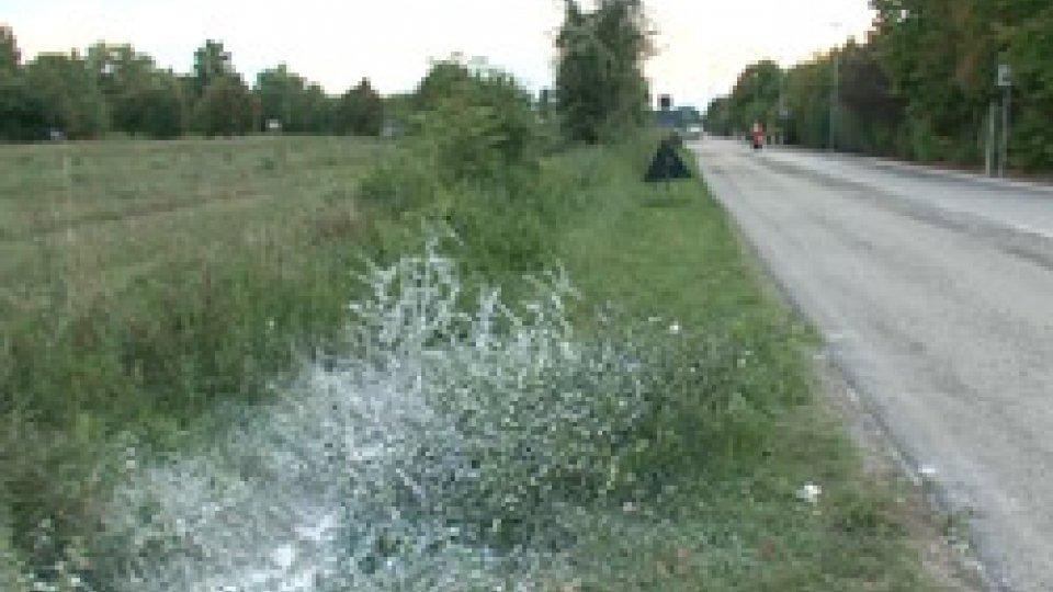 Il canale dove è stato scoperto il corpoGiallo a San Giovanni in Marignano: cadavere trovato in un canale di scolo