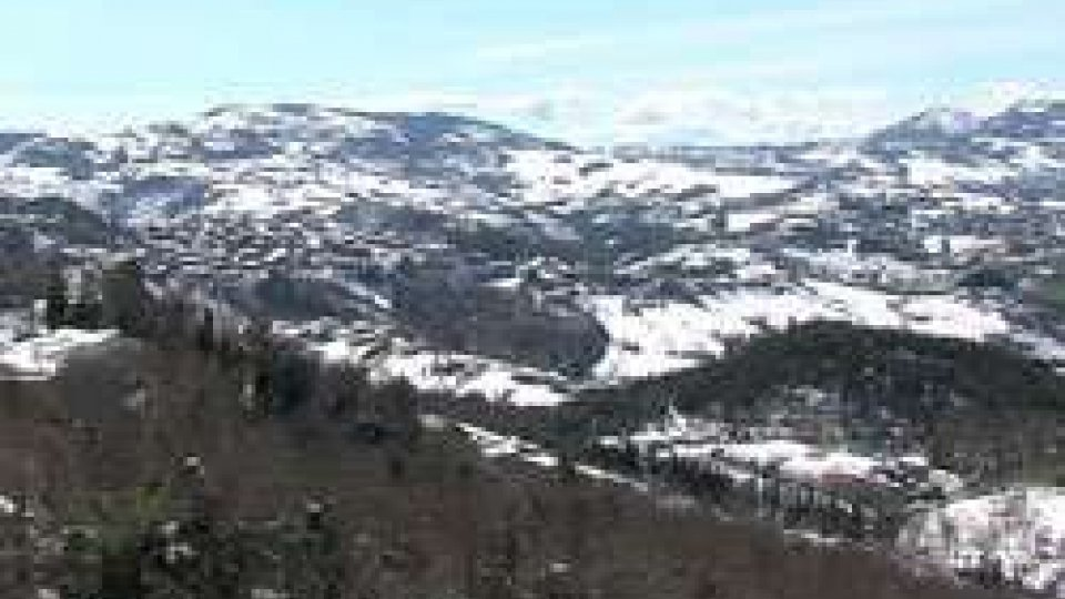 Veduta da San MarinoDopo la neve il sole e da domani pioggia moderata e vento