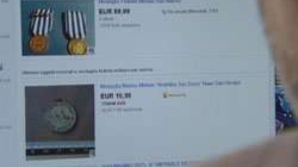 Medaglie di San Marino on lineE-commerce: medaglia di San Marino, forse contraffatta, in vendita su ebay
