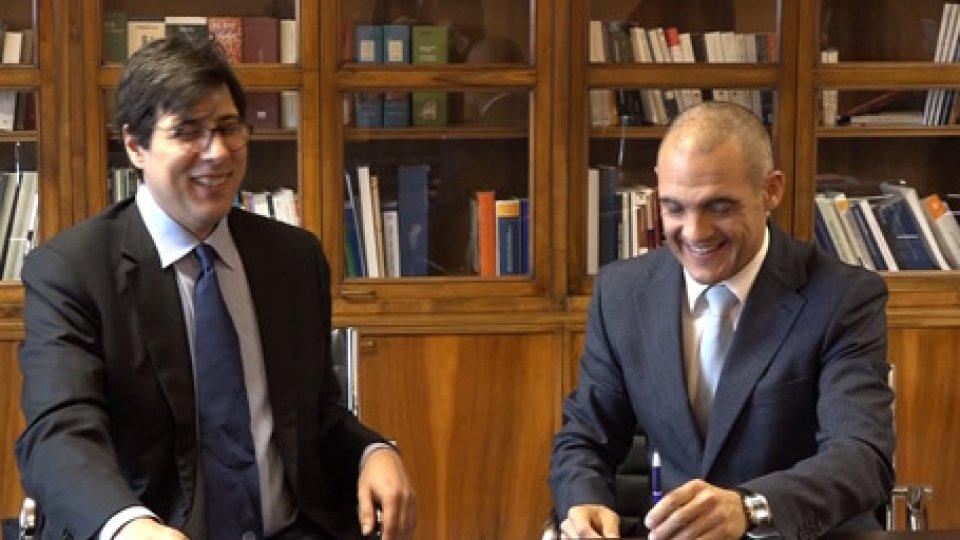 Stefano Battini e Manuel CantiPubblici dirigenti di San Marino a scuola di formazione