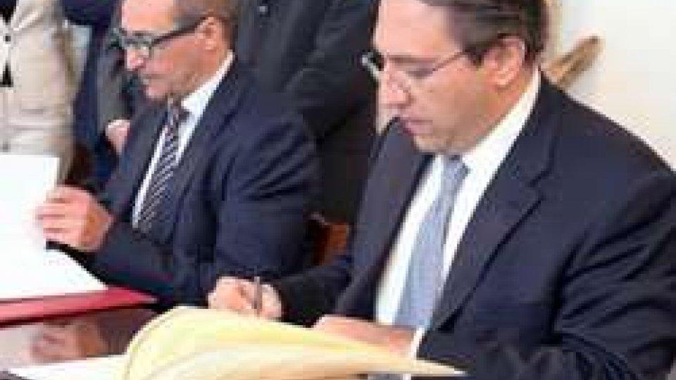 Firma del Memorandum d'Intesa sulla Cooperazione in materia di assistenza sanitaria tra la Repubblica di San Marino e la Repubblica di Malta.