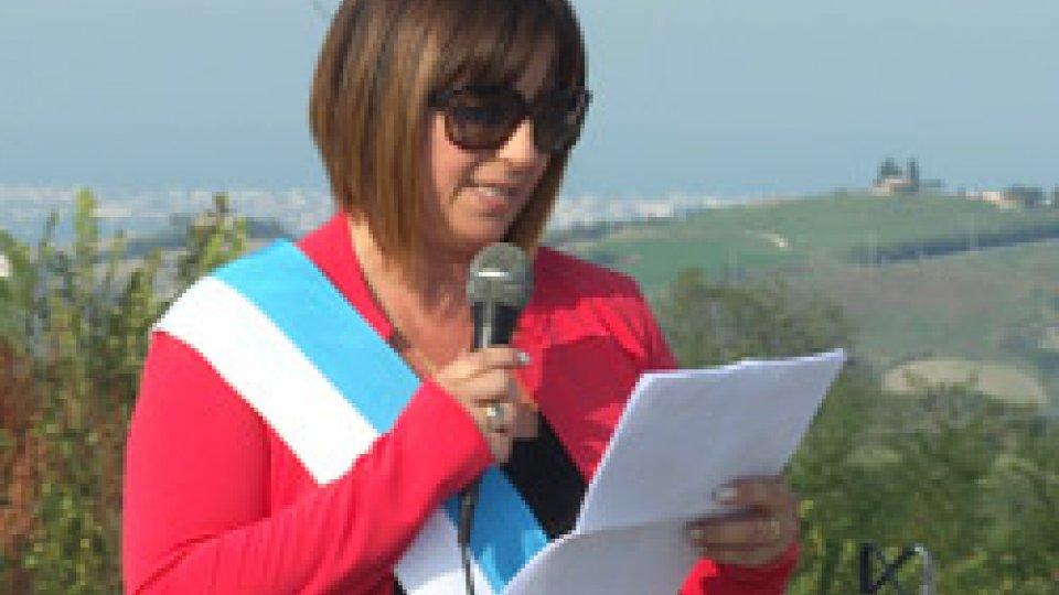 Il Capitano di Castello Fanny GasperoniA Faetano la Commemorazione della battaglia di Monte Pulito