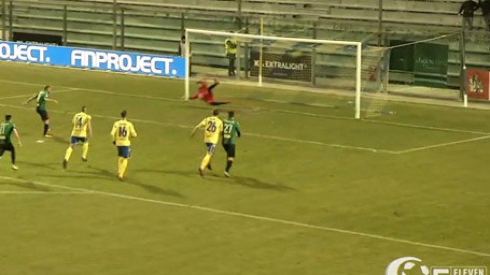 Fermana - Pordenone 0-1Il Pordenone non brilla, ma vince e mantiene le inseguitrici a distanza