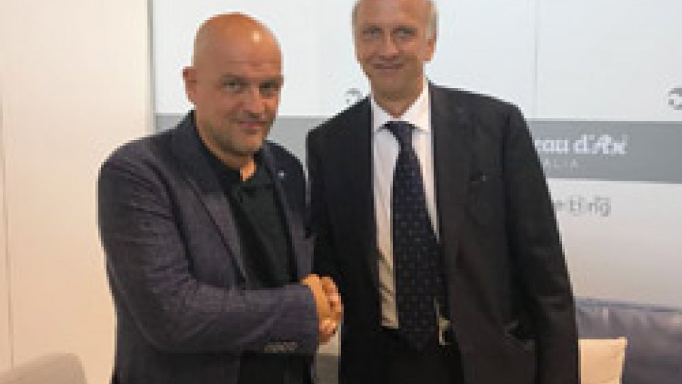 Marco Bussetti e Marco PodeschiAl Meeting il Segretario di Stato Marco Podeschi incontra il ministro all'Istruzione Bussetti