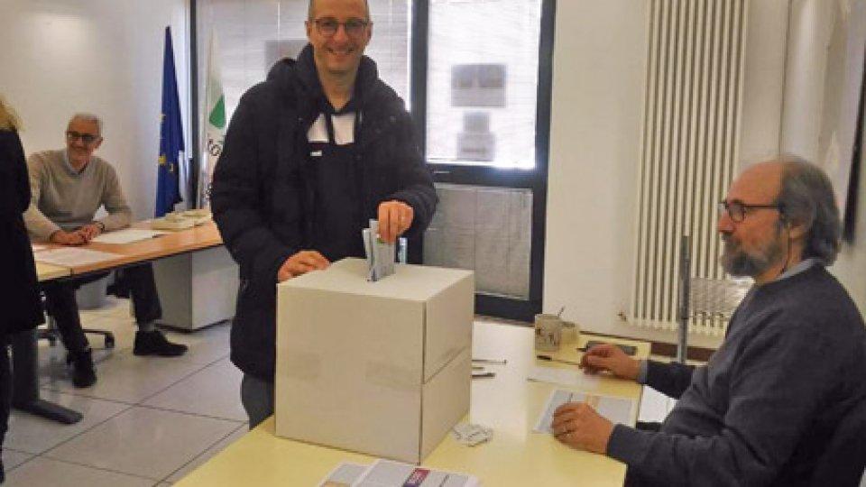 Al voto, il sindaco di Pesaro Matteo Ricci