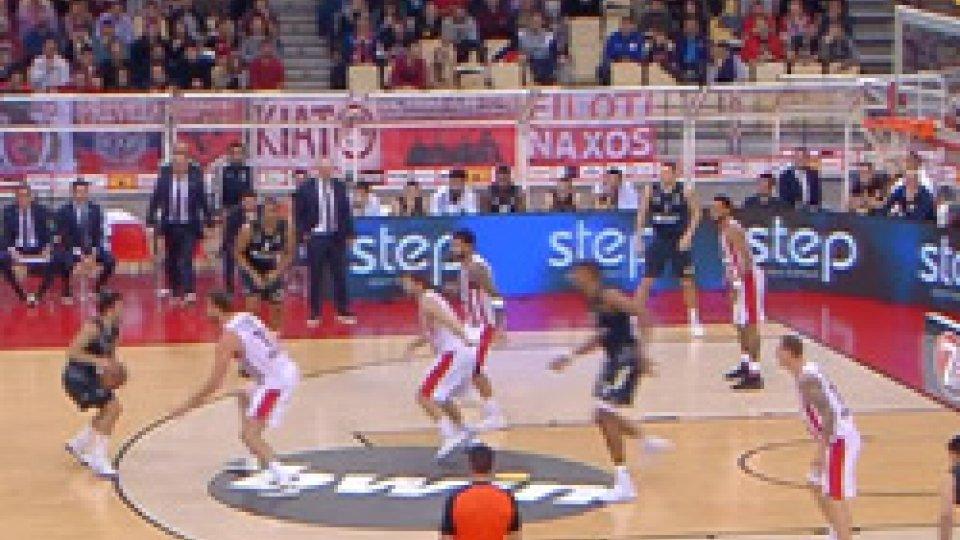 Eurolega: prima sconfitta stagionale del Real Madrid battuto al Pireo dall'Olympiacos