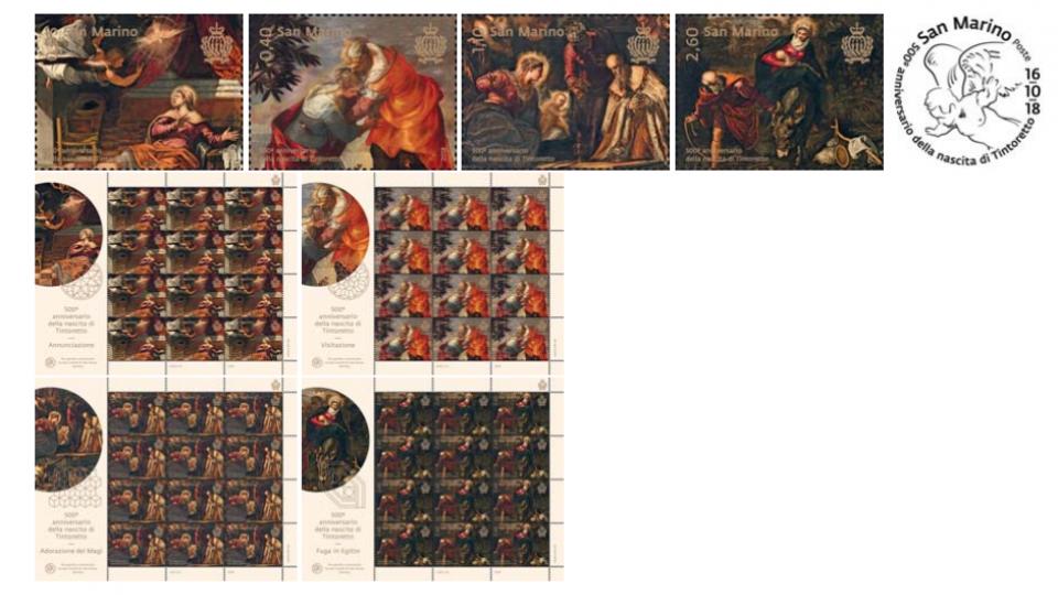 UFN: comunicato serie postale 16/10/2018 - 500° anniversario della nascita di Tintoretto