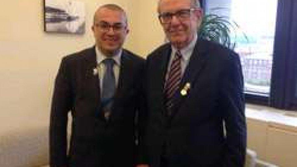 Fmi: a Washington l'incontro tra il Segretario Celli e il ministro Padoan